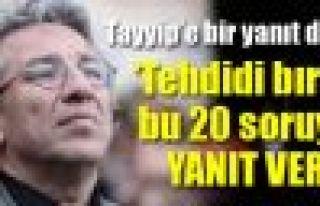 Can Dündar'dan Erdoğan'a: 'Tehdidi bırak, bu 20...