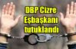DBP Cizre Eşbaşkanı tutuklandı