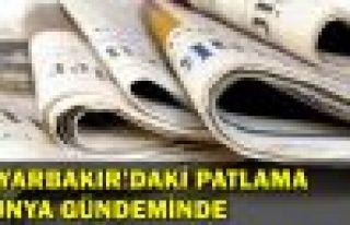 Diyarbakır'daki patlama dünya gündeminde