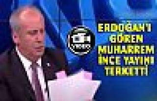 Erdoğan için konuşması kesilen Muharrem İnce...