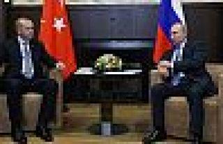 Erdoğan Putin'le Suriye ve Libya'yı görüştü,...