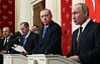 Erdoğan ve Putin, İdlib'i görüştü
