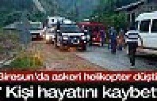 Giresun'da askeri helikopter düştü: 7 kişi hayatını...