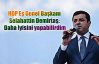 HDP Eş Genel Başkanı Demirtaş: Daha iyisini yapabilirdim