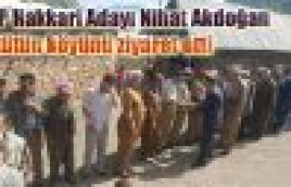 HDP Hakkari Adayı Nihat Akdoğan Aktütün köyünü...