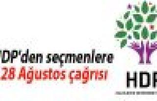 HDP'den seçmenlere 28 Ağustos çağrısı