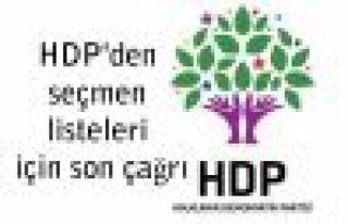 HDP'den seçmen listeleri için son çağrı