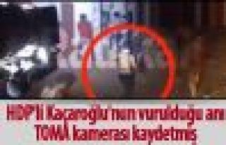 HDP'li Kaçaroğlu'nun vurulduğu anı, TOMA kamerası...