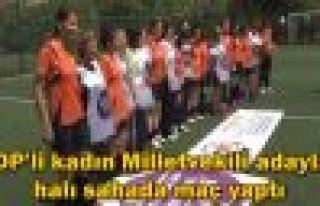 HDP'li kadınlar halı sahada maç yaptı