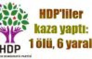 HDP'liler kaza yaptı: 1 ölü, 6 yaralı