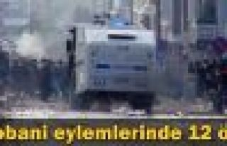 Kobani eylemlerinde 12 ölü