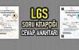 LGS soru kitapçığı ve cevap anahtarı yayınlandı