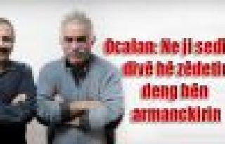 Ocalan: Ne ji sedî 10 divê hê zêdetir deng bên...