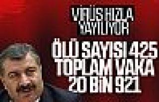 Sağlık Bakanı Fahrettin Koca: Can kaybı 425'e...