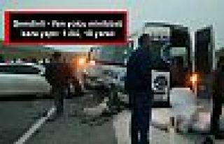 Şemdinli - Van yolcu minibüsü kaza yaptı: 1 ölü,...