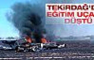 Tekirdağ'da eğitim uçağı düştü: 2 kişi...