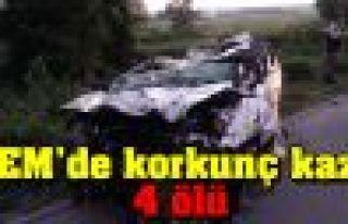 TEM'de korkunç kaza: 4 ölü