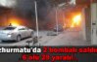 Tuzhurmatu'da 2 bombalı saldırı!.. 6 ölü 29 yaralı!..