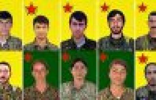 Yaşamını yitiren 10 YPG savaşçısının kimliği...