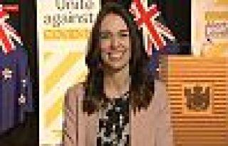Yeni Zelanda Başbakanı Jacinda Ardern depreme canlı...