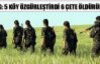 YPG: 5 köy özgürleştirdi, 6 çete öldürüldü