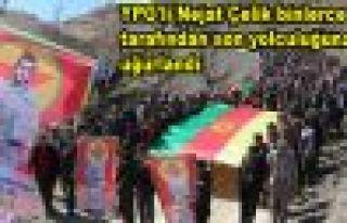 YPG'li Çelik Şemdinli'de binlerce kişi tarafından...