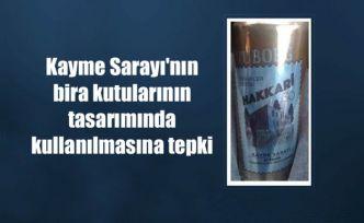 Kayme Sarayı'nın bira kutularının tasarımında kullanılmasına tepki
