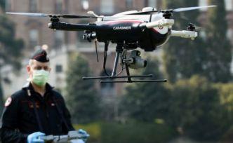 İtalya'da drone hem ateş ölçüyor, hem uyarıyor