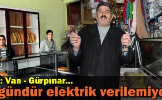 Van Gürpınar'a 3 gündür elektrik verilemiyor!