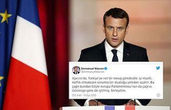 Macron'dan Türkçe paylaşım: Diyaloğu yeniden açalım