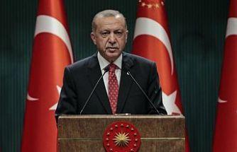 Erdoğan: Hafta içi saat 21:00'den sonra sokağa çıkmak kısıtlandı
