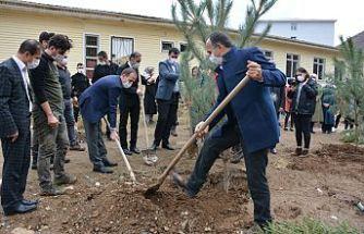 Şemdinli'de 'Geleceğe Nefes Ol' kampanyası kapsamında 200 fidan dikildi