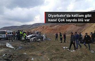 Diyarbakır'da feci kaza: 5 ölü, 3 yaralı