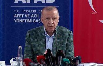 Erdoğan Antalya'da: Acil ihtiyaçlar için 50 milyon ödenek gönderildi