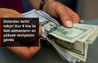 Dolar, 9 TL'yi geçti