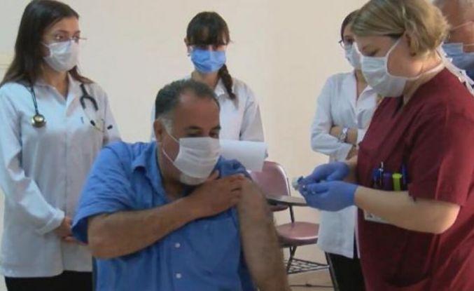 Cerrahpaşa'da ilk korona aşısı yapıldı