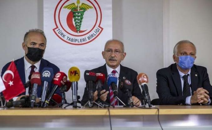 CHP Genel Başkanı Kılıçdaroğlu TTB'yi ziyaret etti