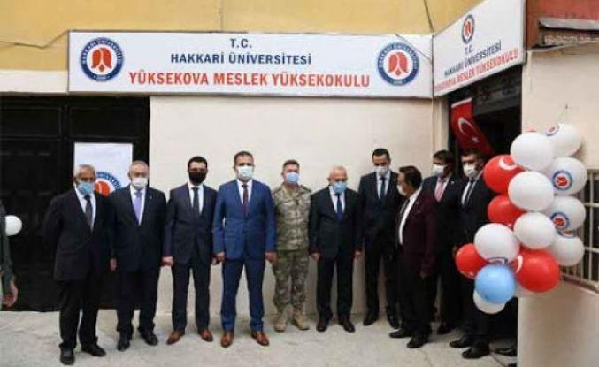 Yüksekova Meslek Yüksekokulu'nun açılışı yapıldı