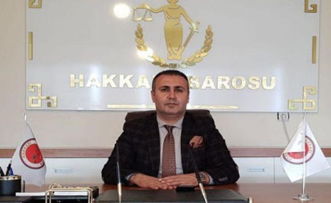 Hakkari Barosu Başkanı Ergün Canan'dan gazeteciler günü mesajı