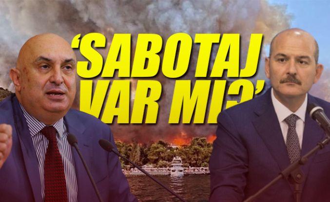 Özkoç: Soylu, yangınların sabotajdan çıktığına dair istihbarat bilgisi olmadığını söyledi
